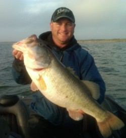 Lake Fork Guide Jason Hoffman with a 12.69 lb bass