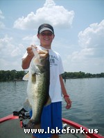 Patrick with Lake Fork guide Jason Hoffman